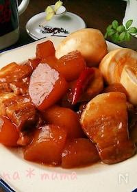 『30分でこっくり染み旨♪豚バラと大根の中華炒め煮♪』