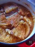 白菜と豚バラのあっさり辛みそ醤油オーブン煮込み