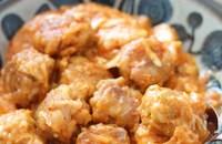 娘がほっぺた落ちるって♡豚こまボールの韓国風キムチーズ