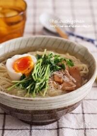 『我が家自慢のズボラ飯♡Wスープの贅沢すぎる塩ラーメン♡』