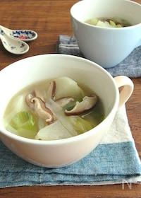 『ほっこり簡単♪かぶとしいたけのねぎ生姜スープ』