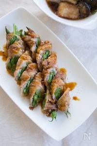 『ピリ辛柚子胡椒だれで。インゲンの豚肉巻き』#お弁当