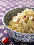 白菜の浅漬け『生姜が香る甘酢漬け』辣白菜
