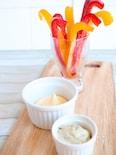 冷凍パプリカのひんやりスティックサラダ