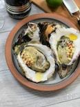 殻付き生牡蠣とリンゴ、ライムの香り