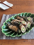 ごはんがすすむ和総菜◎おくらの豚巻き黒ごまにんにく醤油ソテー