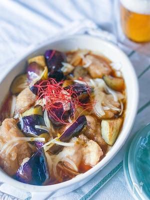 冷やして美味しい♡なすと鶏もも肉の柚子こしょう南蛮
