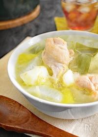 『【鍋ひとつで簡単】鶏手羽元と野菜のスープ』