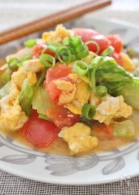 『レタス、トマトと卵の簡単炒め』