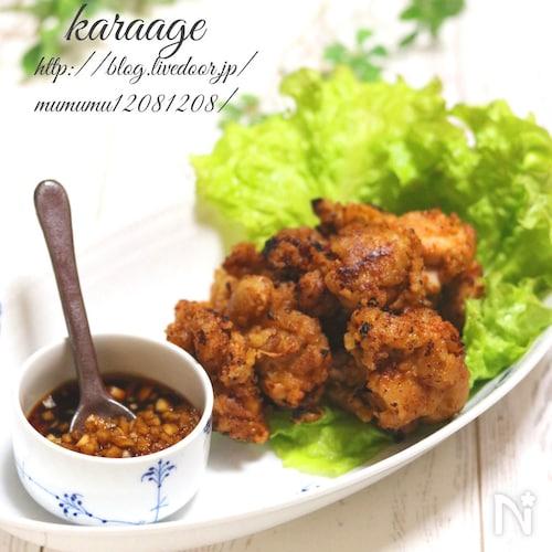 鶏の唐揚げ・黒酢ソース。