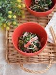春菊とカニかまのうま塩サラダ【作り置き】