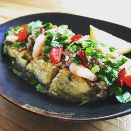 タイ風焼きナスサラダヤムマクア
