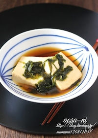 『豆腐のあおさ煮。』