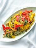 夏野菜とひき肉のチャプチェ