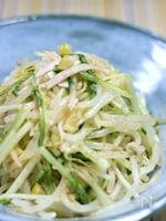 塩レモンでもやしと水菜のサラダ
