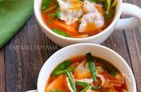 キッチンバサミで包丁不要!簡単豚ニラキムチ味噌スープ