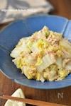 レンチンして和えるだけ「白菜とツナの生姜ごま酢和え」