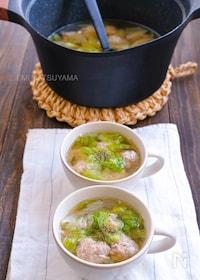 『えのき豚団子とレタスの旨塩スープ』