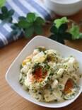 シャキねばとろりん最高♡コロコロ長芋と半熟卵ののり塩サラダ