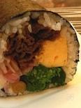 甘辛牛肉と菜の花の恵方巻き
