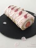 桜香る♡春色♡シフォンロールケーキ