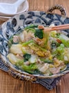 レンジで出来ちゃう!*豚バラ白菜と小松菜のとろーり春雨煮*