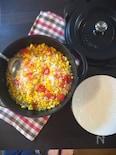 ごろごろとうもろこしのトマト炊き込み御飯