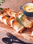 食パンで、超簡単ベーコンエピ