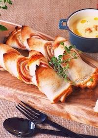 『食パンで、超簡単ベーコンエピ』