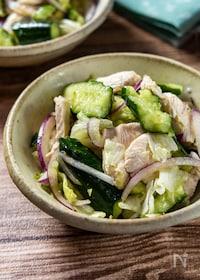 『おつまみデリ風サラダ『鶏しゃぶとたたききゅうりのサラダ』』