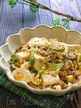 キャベピー麻婆豆腐風