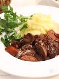 炊飯器de簡単♡お肉ホロホロ〜♪牛肉の赤ワイン煮込み