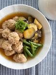 肉団子とナスの煮浸し【ご飯に合う!】