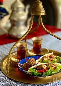 『アラブのミートボール*キョフテのピタパンサンド』