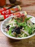 焼肉のお供はこれで決まり!?『水菜ともやしの韓国風サラダ』