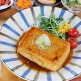 安旨ヘルシー/男子も喜ぶガリバタ豆腐ステーキ