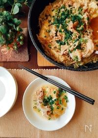 『夕飯のおかず☆豚バラ肉とえのきと豆腐の重ね蒸し』