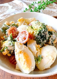 『ブロッコリーとゆで卵のゴマ・マヨ・サラダ』