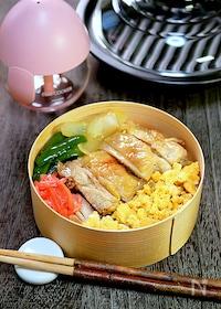 『【15分弁当】レンジで簡単!「鶏の漬け焼きそぼろ弁当」』