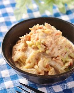 マジで旨すぎ!白菜とツナのごまおかか味噌マヨサラダ