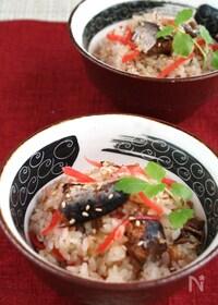 『秋刀魚缶と紅生姜の炊き込み御飯』
