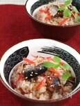 秋刀魚缶と紅生姜の炊き込み御飯