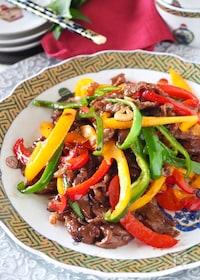 『【少ないお肉でも大満足】牛肉とパプリカのスタミナコク旨炒め』