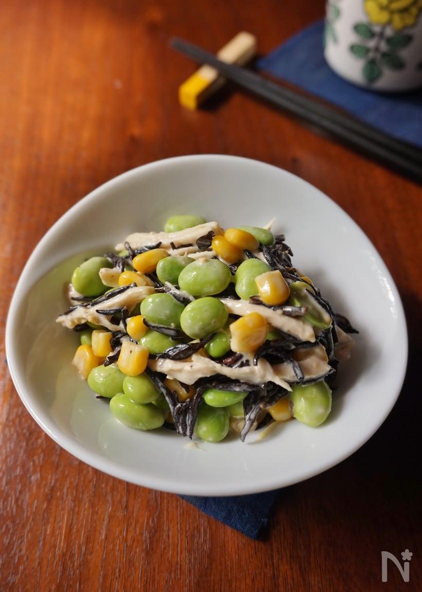 枝豆とひじきの味噌マヨサラダ