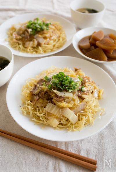 豚バラ白菜のあんかけ焼きそば By Tomoko Nadia ナディア