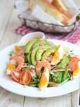 海老とアボカドのもち麦サラダ