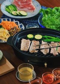 『<BRUNO>3種のタレで食べるサムギョプサル』