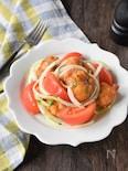 唐揚げとトマトの爽やかマリネ