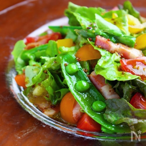 さっぱりドレッシングで❤️春野菜の彩りサラダ