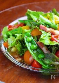 『さっぱりドレッシングで❤️春野菜の彩りサラダ』